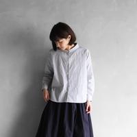 コードレーンワイドブラウス(白×黒細ストライプ)【レディス】U102