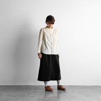 シャトルコーデュロイプレーンスカート(太畝カーキ)【レディス】
