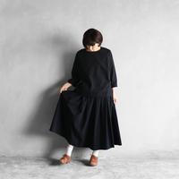 オーガニックコットンロングスカート(クロ)【レディス】