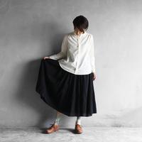 ウォッシャブルウールロングスカート(ブラック)【レディス】