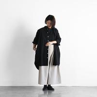 やわらかコットンロングシャツ(ブラック)【ユニセックス】004