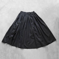 ゆるふわコットンスカート(クロ)【レディス】