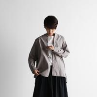 オーガニックコットンバンドカラーオーバーシャツ(ウォームグレー)【ユニセックス】015