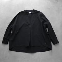 綿ウールタイプライタークロススキッパープルオーバ(ブラック)【レディス】U611