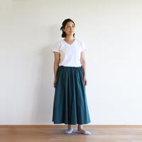 コードレーンロングスカート(ダークグリーン)【数量限定生産】