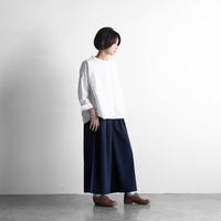 やわらかコットンスカートパンツ(ダークネイビー)【レディス】U505