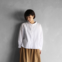 コードレーンワイドブラウス(白)【レディス】