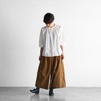 みじんコール(シャトルコーデュロイ)スカートパンツ(キャメル)【レディス】505