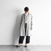 ボタニカルコードレーン長袖ロングシャツ(ヒマワリ)【ユニセックス】