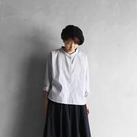 コードレーンワイドブラウス(細グレーストライプ)【レディス】U102