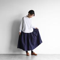ダウンプルーフコットンロングスカート(フレンチネイビー)【レディス】