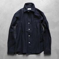 ウォッシャブルウールシャツ(ブラック)【ユニセックス】