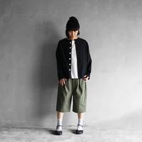 オーガニックコットンノーカラーシャツジャケット(クロ)【ユニセックス】