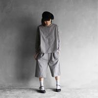 やわらかコットン8分丈パンツ(ライトグレー)【ユニセックス】