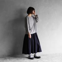 オーガニックコットンプルオーバ(ライトグレー)【レディス】