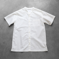 タイプライタークロスコットン半袖シャツ008W【ユニセックス】