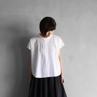 コードレーンフレンチスリーブワイドブラウス(白)【レディス】