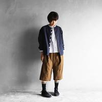 オーガニックコットンノーカラーシャツジャケット(ダークネイビー)【ユニセックス】
