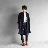 やわらかコットンロングシャツ(ダークネイビー)【ユニセックス】004