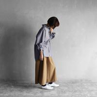 オーガニックコットンビッグシャツ(ライトグレー)【ユニセックス】