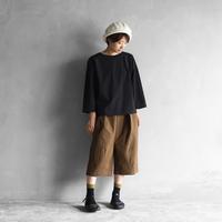 ウォッシャブルウールコットン8分丈パンツ(キャメル)【ユニセックス】