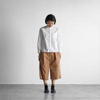 タイプライタークロス8分丈パンツ(ブラウン)【ユニセックス】503
