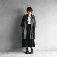 パラシュートクロスロングシャツ(カーキ)【ユニセックス】