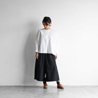 綿ウールタイプライタークロススカートパンツ(クロ)【レディス】