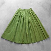 ゆるふわコットンスカート(グラスグリーン)【レディス】