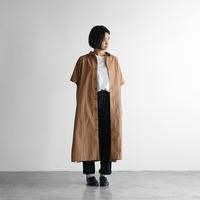 タイプライタークロスショートスリーブロングシャツ(ブラウン)【ユニセックス】014