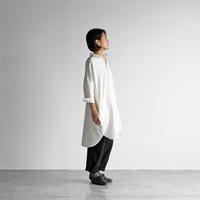スヴィンオックスフォードロングシャツ(アイボリー)【ユニセックス】004