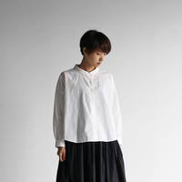 オーガニックコットンワイドブラウス(白)【レディス】U102