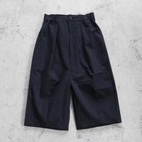 ウォッシャブルウールコットン8分丈パンツ(ブラック)【ユニセックス】