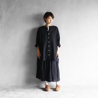ウォッシャブルウールチュニック(ブラック)【レディス】