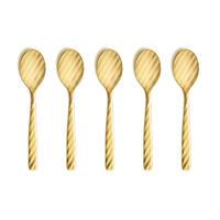 DRESS TeaSpoon 5pcs.Set Gold【ドレス ティースプーン5本セット ゴールド】