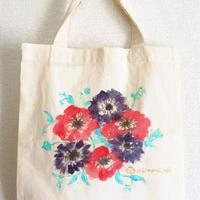 キラキラお花トート*アネモネB5サイズ