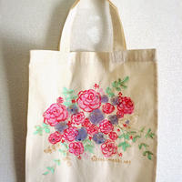 キラキラお花トート*ローズA4サイズ