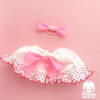 じょちりょくアップスカート(ぷんちゃんぬいぐるみ用)ショッキングピンク