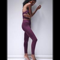 Priya Paisley Legging - XS/S / Potent Purple