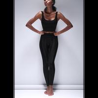 Lurex Pinstripe Legging/Black