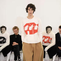 JW ANDERSON x David Wojnarowicz / Burning House Knit / WHITE x RED
