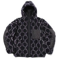 ROTOL / BIG BOA ZIP HOODIE HEXAGON / NAVY