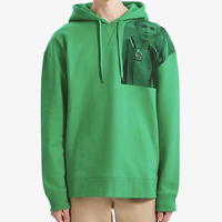FRED PERRY x RAF SIMONS / PRINTED HOODED SWEAT / GREEN