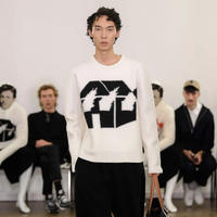 JW ANDERSON x David Wojnarowicz / Burning House Knit / WHITE x BLACK