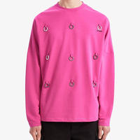 FRED PERRY x RAF SIMONS / L/S MULTI LAUREL WREATH TOP / PINK
