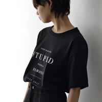 STOP MAKING STUPID PEOPLE FAMOUS T-shirts / BLACK