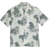 Two Palms / Hawaiian Shirt Pineapple Map - WHITE