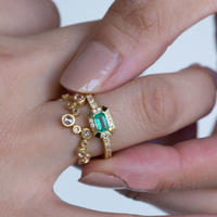 ---One of a kind---ツキノミチEmerald Ring