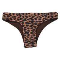 ハーフブラジリアン リバーシブルボトム(Leopard  Brown)
