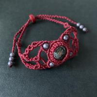 portalizer (ミニ方位磁石ブレスレット)  赤B